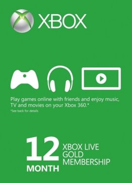 Buy Xbox Live 12 Month Gold Membership (Xbox One/360)