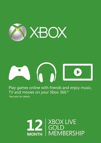 Buy Xbox Live 12 Month Gold Membership (Xbox One/360) - Global