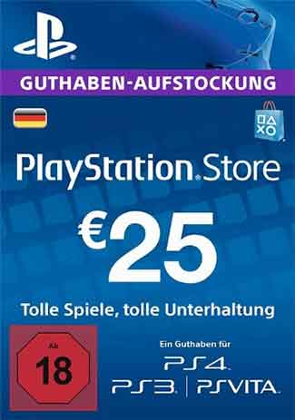 Acheter PSN 25 EUR / PlayStation Network Gift Card DE Store