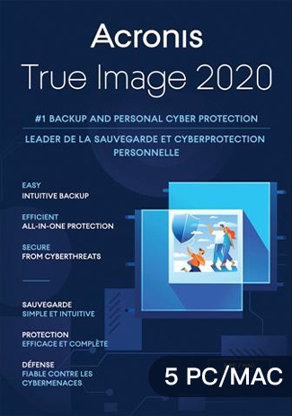 Acronis True Image 2020 - 5 PC MAC