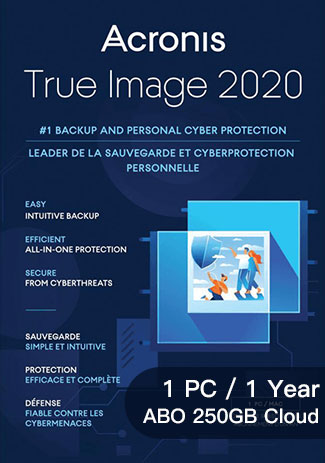 Acronis True Image 2020 Advanced - 1 PC / 1 Year (ABO 250GB Cloud)