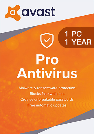 Avast Pro Antivirus - 1 PC / 1 Year
