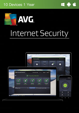 Buy AVG Internet Security - 10 Devices - 1 Year
