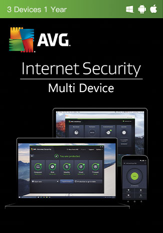 Buy AVG Internet Security Multi Device - 3 Devices - 1 Year
