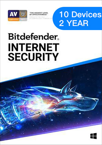 Bitdefender Internet Security - 10 Devices- 1 Year (EU)