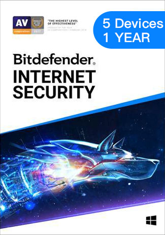 Bitdefender Internet Security - 5 Devices - 1 Year (EU)