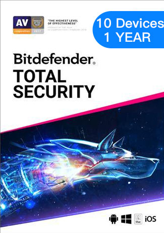 Bitdefender Total Security - 10 Devices - 1 Year (EU)