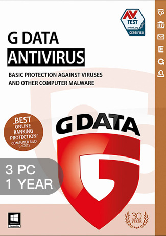 G Data Antiviru - 3 PC - 1 Year