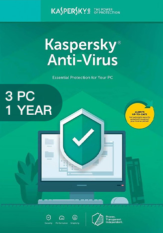 Buy Kaspersky Antivirus - 3 PCs - 1 Year