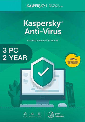Kaspersky Anti-Virus - 3 PCs - 2 Years