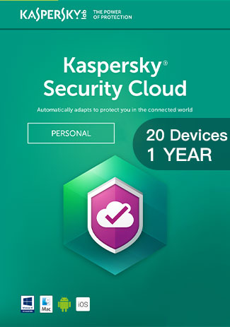 Kaspersky Security Cloud - 20 Devices - 1 Year