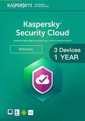 Kaspersky Security Cloud - 3 Devices - 1 Year