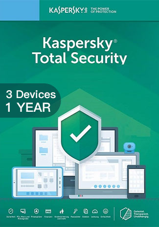 Kaspersky Total Security Multi Device - 3 Devices - 1 Year