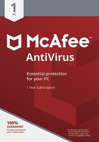 Buy McAfee Antivirus - 1 PC / 1 Year