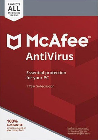 McAfee AntiVirus Unlimited  1 Year