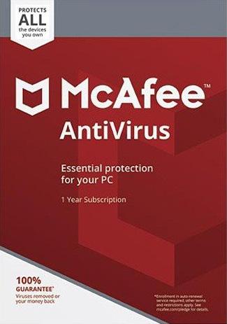 Acheter McAfee AntiVirus Unlimited  1 Year