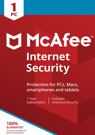 McAfee Internet Security - 1 PC / 1 Year