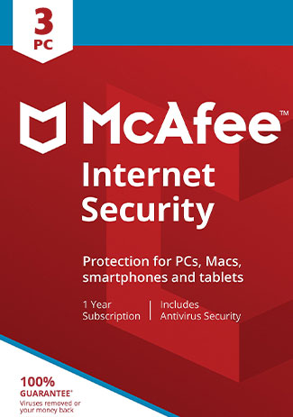 McAfee Internet Security - 3 PC / 1 Year