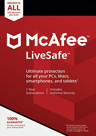 Buy McAfee Life Safe Unlimited 1 Year