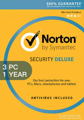 Norton Security Deluxe 3 - 3 PC / 1 Year