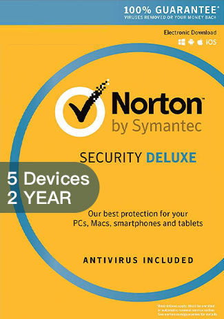 Norton Security Deluxe 3 - 5 Devices - 2 Years