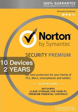NORTON SECURITY PREMIUM 3 - 10 Devices - 2 YEAR