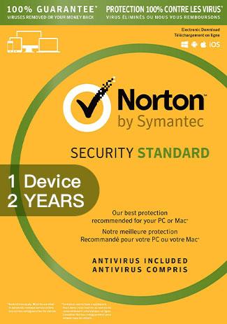 Buy NORTON SECURITY STANDARD 3 - 1 Device - 2 YEAR