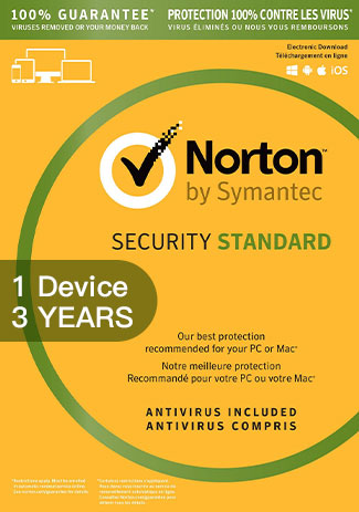 NORTON SECURITY STANDARD 3 - 1 Device - 3 YEAR
