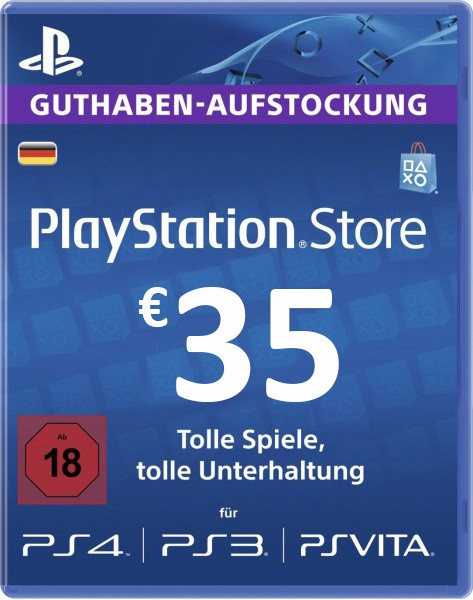 купить PSN 35 EUR / PlayStation Network Gift Card DE Store