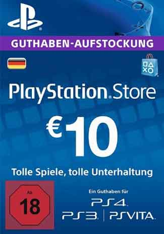 PSN 10 EUR / PlayStation Network Gift Card DE Store