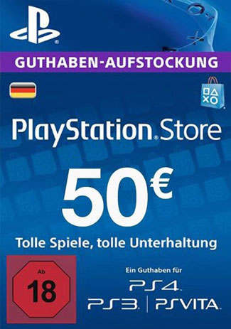 Koupit PSN 50 EUR / PlayStation Network Gift Card DE Store