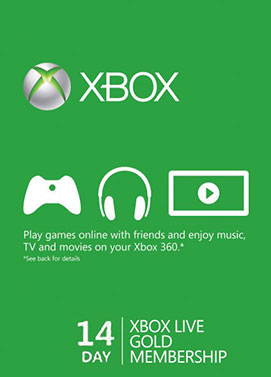 Buy Xbox Live 14 Days Gold Membership Trial Card
