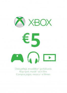 Buy Xbox Live 5 Euro Gift Card