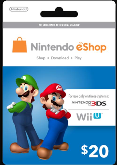 Buy Nintendo Cards 20 USD