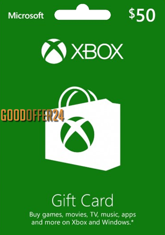 Xbox Live 50 USD Gift Card