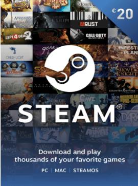 Steam Game Card 20 EUR