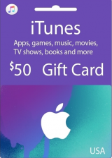 купить Apple iTunes $50 Gutschein-Code US iPhone Store
