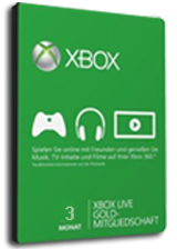 Kupować Microsoft Xbox Live 3 month Gold Subscription Card [Xbox 360/Xbox One]