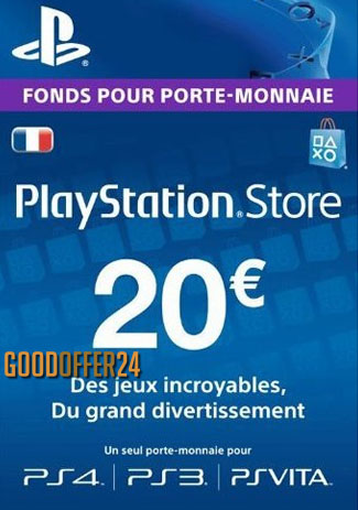PSN 20 EUR / PlayStation Network Gift Card FR Store