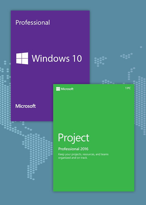 Buy Windows10 PRO OEM + Project Professional 2016 CD Keys Pack