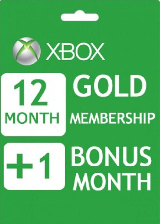 Comprar Xbox Live 12+1 Months Gold Membership Card Global