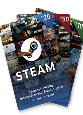 Steam Game Card 30 USD